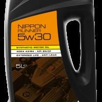 """NIPPON Runner 5W30 · <br><span class=""""product-subtitle"""">Інноваційне моторне мастило XHVI синтезу для японських автомобілів з великим пробігом </span>"""